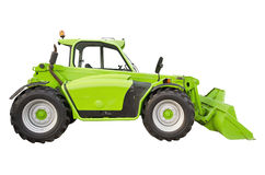 Green telehandler Royalty Free Stock Photography