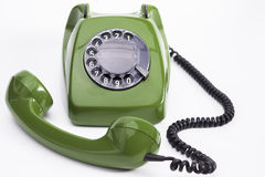 Green telephone Stock Images
