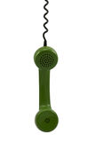 Green telephone receiver Royalty Free Stock Image