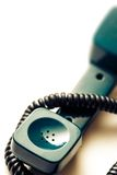 Green telephone receiver Royalty Free Stock Photos