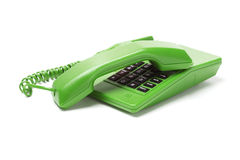 Green Telephone Stock Photography