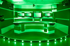 Green television studio Royalty Free Stock Photo