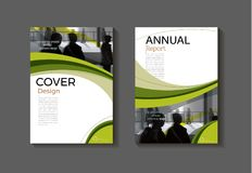 Green template book cover design modern cover abstract Brochure. Cover,annual report, magazine and flyer layout Vector a4 stock illustration