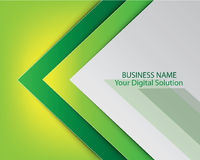 Green template brochure cover design Royalty Free Stock Images