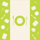 Green template design of menu Royalty Free Stock Photos