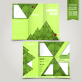 Green template for ecology concept brochure Royalty Free Stock Images