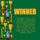 Green templater with cups Royalty Free Stock Photography