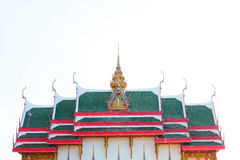 Green Temple roof Royalty Free Stock Image