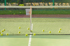 Green tennis ball Stock Images