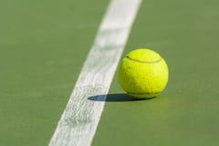 Green tennis ball Stock Photo