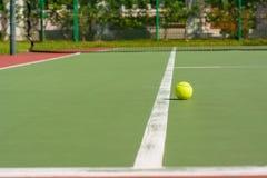 Green tennis ball Royalty Free Stock Image