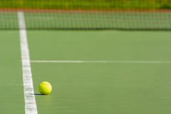 Green tennis ball Royalty Free Stock Images