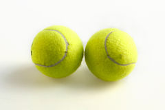 Green tennis balls Royalty Free Stock Image