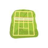 Green tennis court cartoon vector Illustration Royalty Free Stock Photos