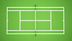 Green tennis court Stock Images