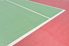 Green tennis  court. Outdoor tennis concrete  court for background Stock Photos
