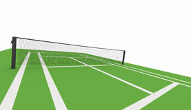Green tennis court rendered Stock Images