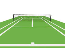 Green tennis court rendered Stock Photography