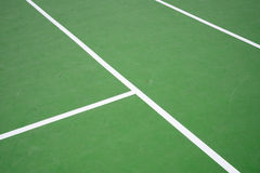 Green tennis court Stock Photo