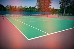 Green tennis court. Sport background Stock Photography