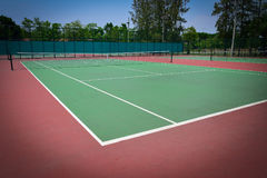 Green tennis court. Sport background Royalty Free Stock Images