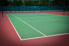 Green tennis court. Sport background Stock Photos