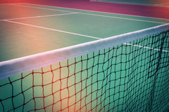 Green tennis court sport background Royalty Free Stock Photography