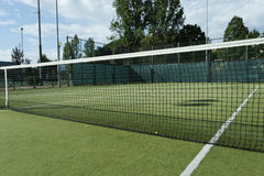 Green tennis court Royalty Free Stock Photos