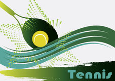 Green tennis court. Vector illustration Royalty Free Stock Image