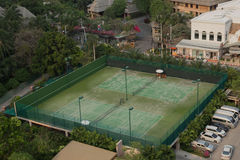 Green tennis court Royalty Free Stock Image