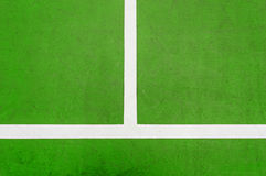 Green Tennis court. White line on Green Tennis court Stock Photos