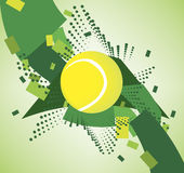 Green tennis courts. Banner.Vector illustration Stock Images