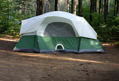Green Tent Stock Photography