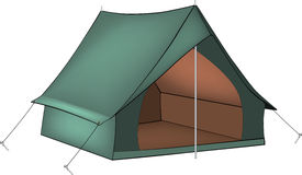 Green tent Royalty Free Stock Image