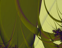 Green Tent. Streamers and flowers decorate a green tented area. Abstract fractal image Royalty Free Stock Photos