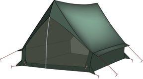 Green tent stock illustration