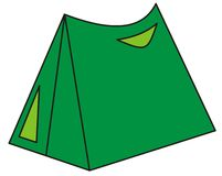 Green tent illustration Royalty Free Stock Photos