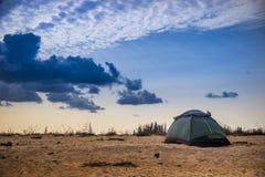 Green tent at nature Stock Photos