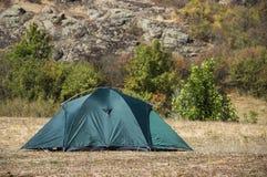 Green tent at nature Stock Image