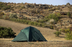 Green tent at nature Stock Photography