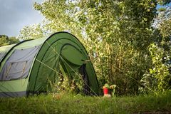 Green tent Stock Photo