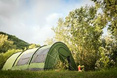 Green tent Royalty Free Stock Images