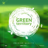Green territory label Stock Photography