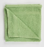 Green terry towel Stock Images