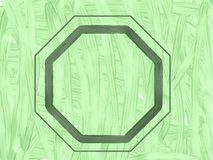 Green test pattern with geometric frame. royalty free stock images