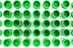 Green test tube Royalty Free Stock Images