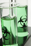 Green Test Tubes Stock Image