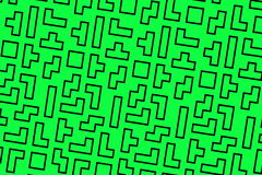 Green tetris background Stock Photography