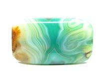 Green texrure chalcedony crystal Royalty Free Stock Photos