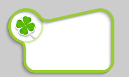 Green text box Stock Image